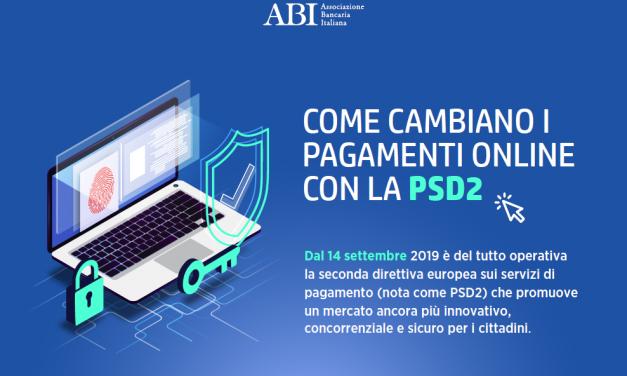 PSD2, come cambiano i pagamenti on line. Infografica ABI
